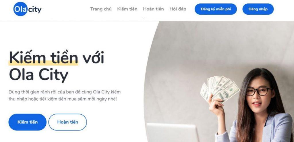 Kiếm tiền miễn phí từ dự án Ola City