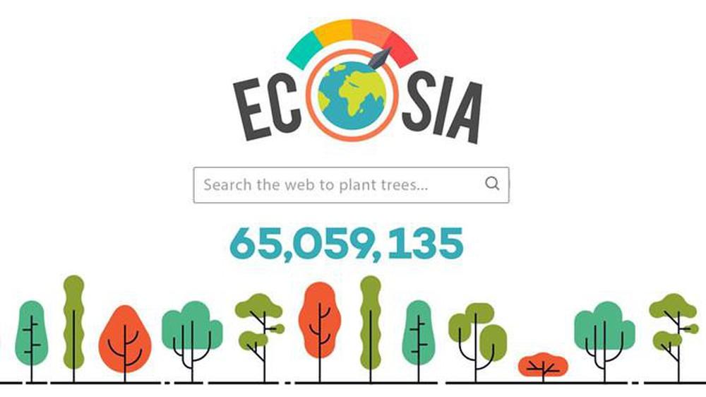 Ứng dụng Ecosia thay bạn trồng cây