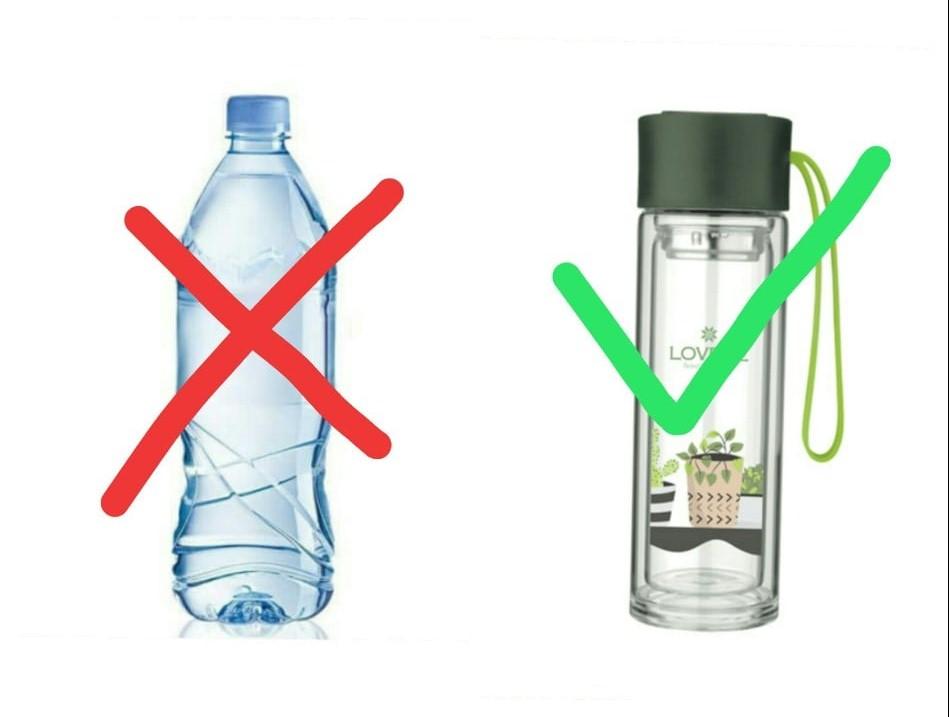 Dùng chai nhựa tái sử dụng