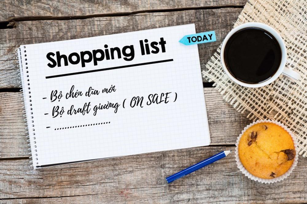 Lên danh sách mua sắm