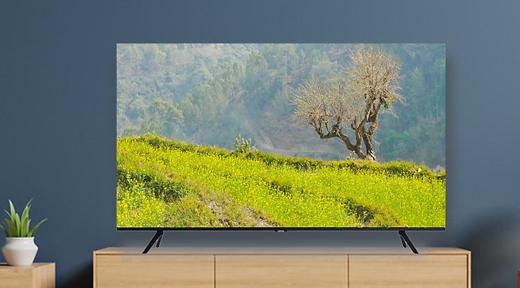Smart Tivi Samsung 4K 55 inch UA55TU8100 được thiết kế không viền 3 cạnh
