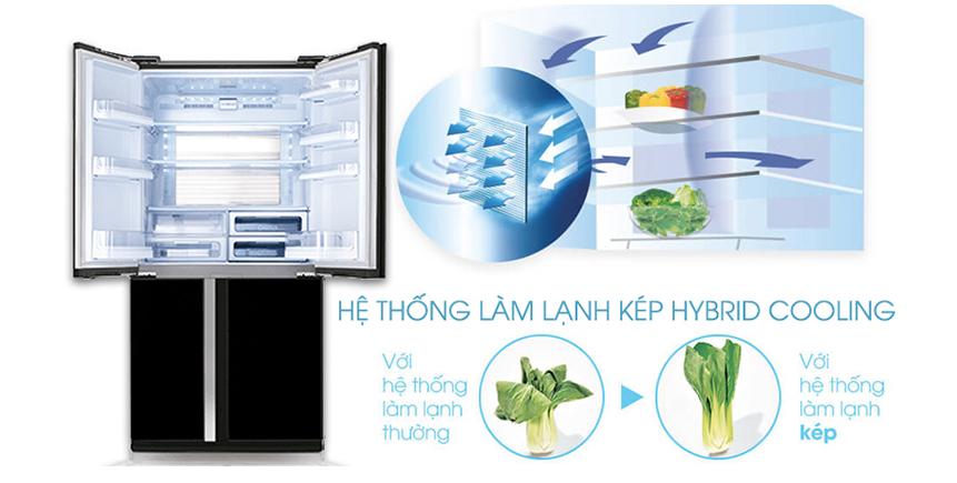 Tủ lạnh Inverter Sharp SJ FX688VG BK có hệ thống làm lạnh kép