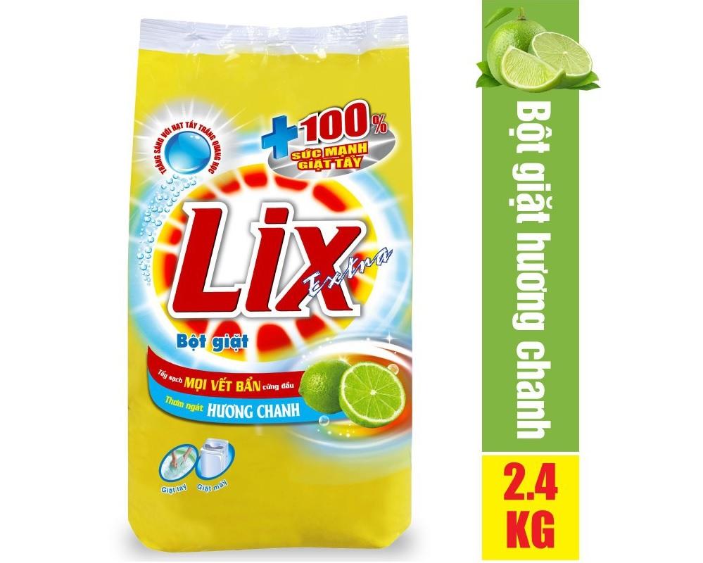 Bột giặt Lix hương chanh tẩy vết bẩn cực mạnh