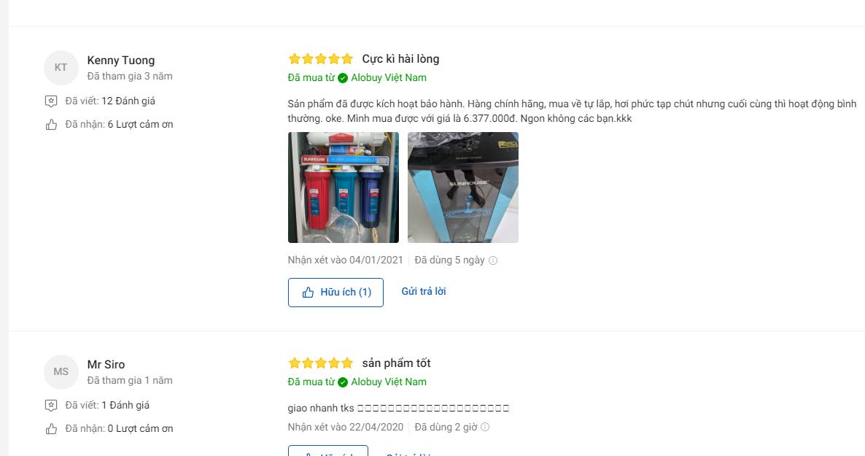 Đánh giá máy lọc nước tích hợp nóng lạnh 10 lõi Sunhouse SHR76210CK