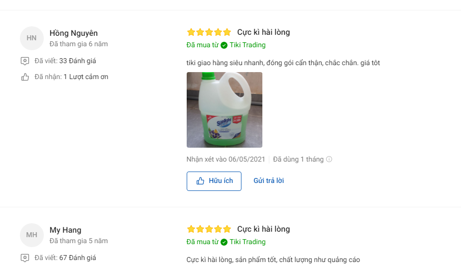 Nhận xét của người mua về sản phẩm