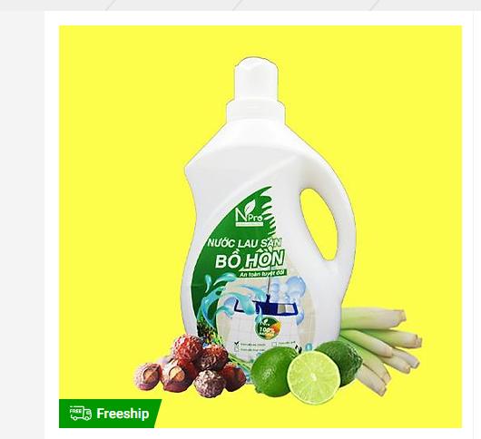 Nước lau sàn hữu cơ bồ hòn tinh dầu sả chanh
