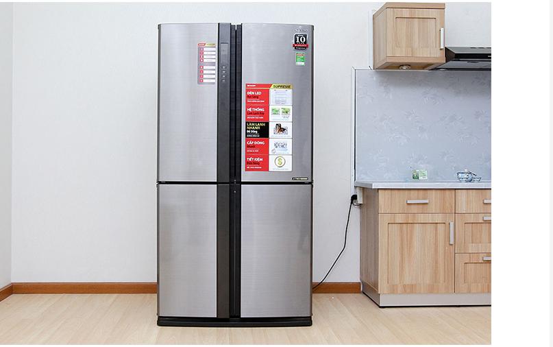 Tủ lạnh Sharp Inverter 556L SJ FX631V SL hiện đại, sang chảnh