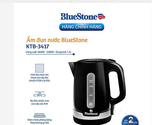 Ấm siêu tốc BlueStone KTB 3417 dung tích 1,7 lít
