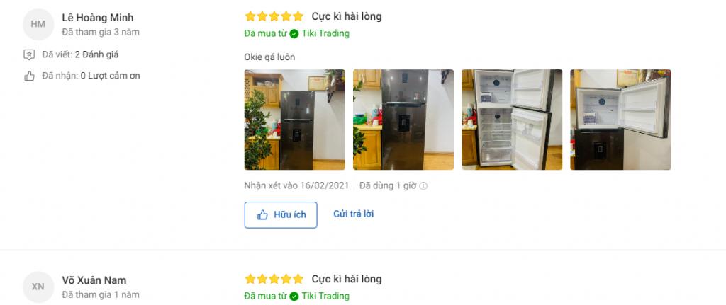 Đánh giá người mua về tủ lạnh Samsung Inverter 380L RT38K5930Dx