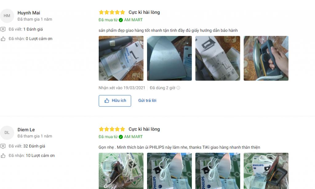 Đánh giá về Bàn ủi khô Philips HD1172