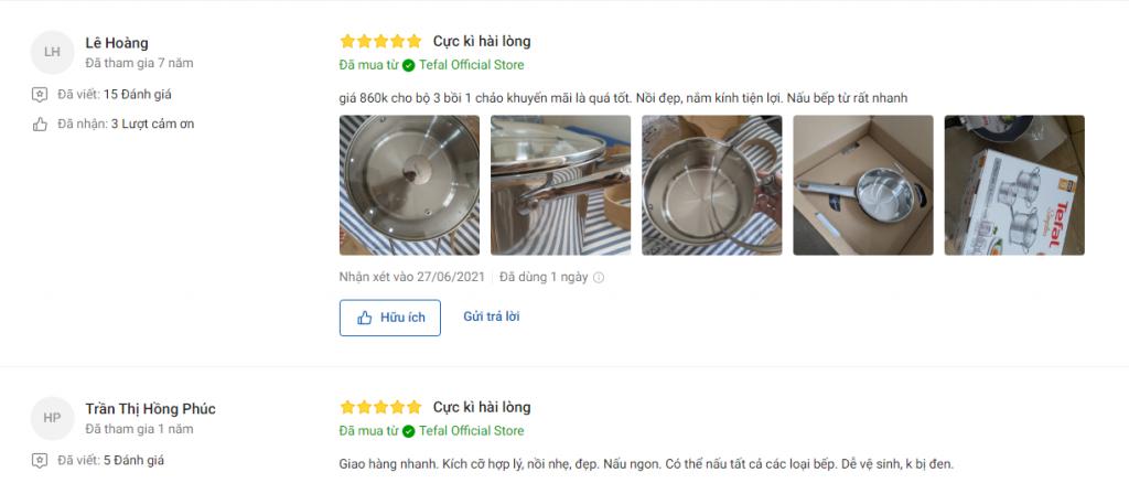 Đánh giá về bộ nồi inox Tefal Simpleo B907S644 3 món