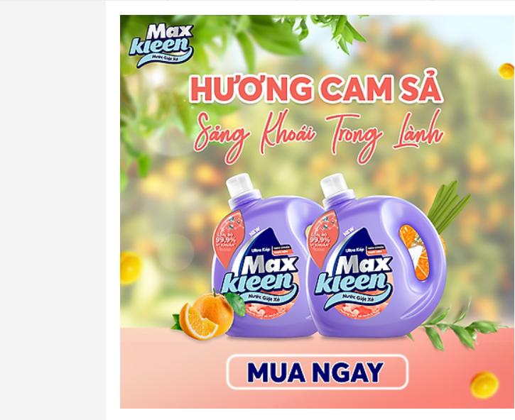 Nước giặt xả MaxKleen hương cam sả