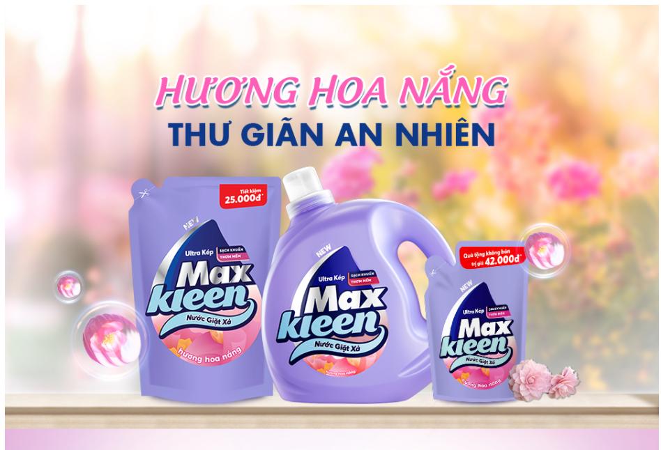 Nước giặt xả MaxKleen hương hoa nắng
