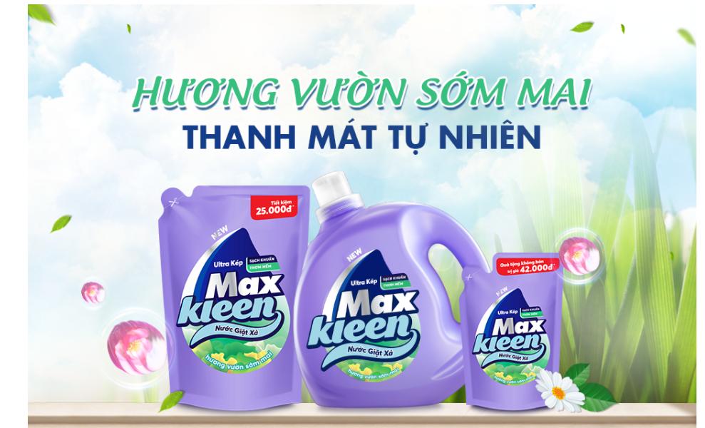 Nước giặt xả Maxkleen hương vườn sớm mai