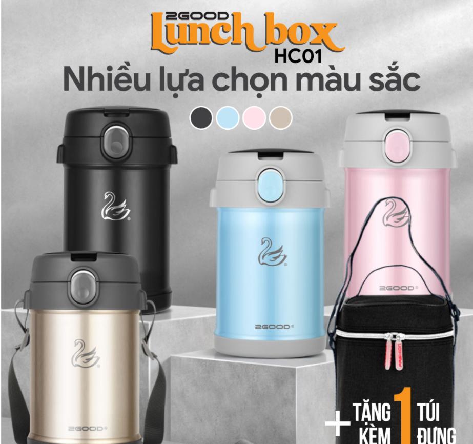 Hộp cơm giữ nhiệt 2GOOD Lunch Box HC01 được nhiều người yêu thích
