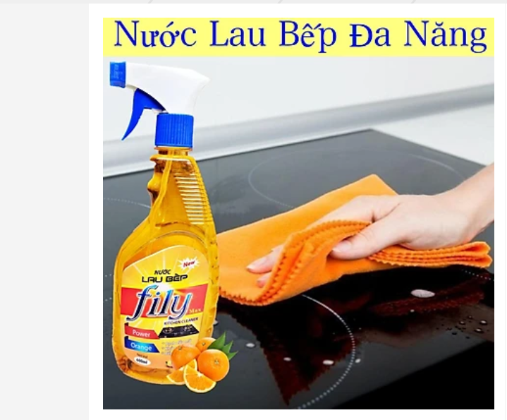Nước lau bếp, kính FiLy hương cam chanh