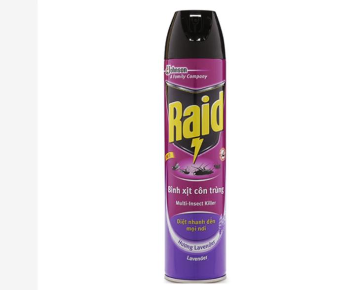 Bình xịt côn trùng Raid hương lavender 600ml