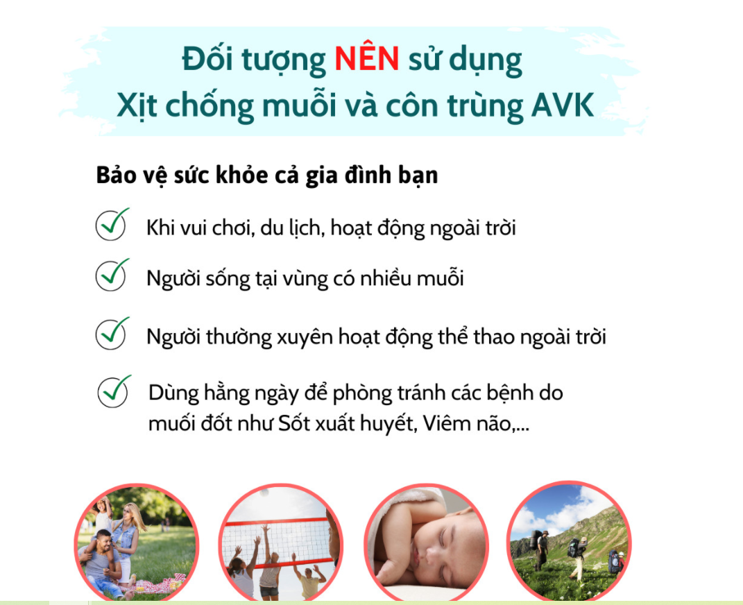 Đối tượng nên dùng xịt thảo dược xua muỗi và côn trùng đốt AVK Amuldy S