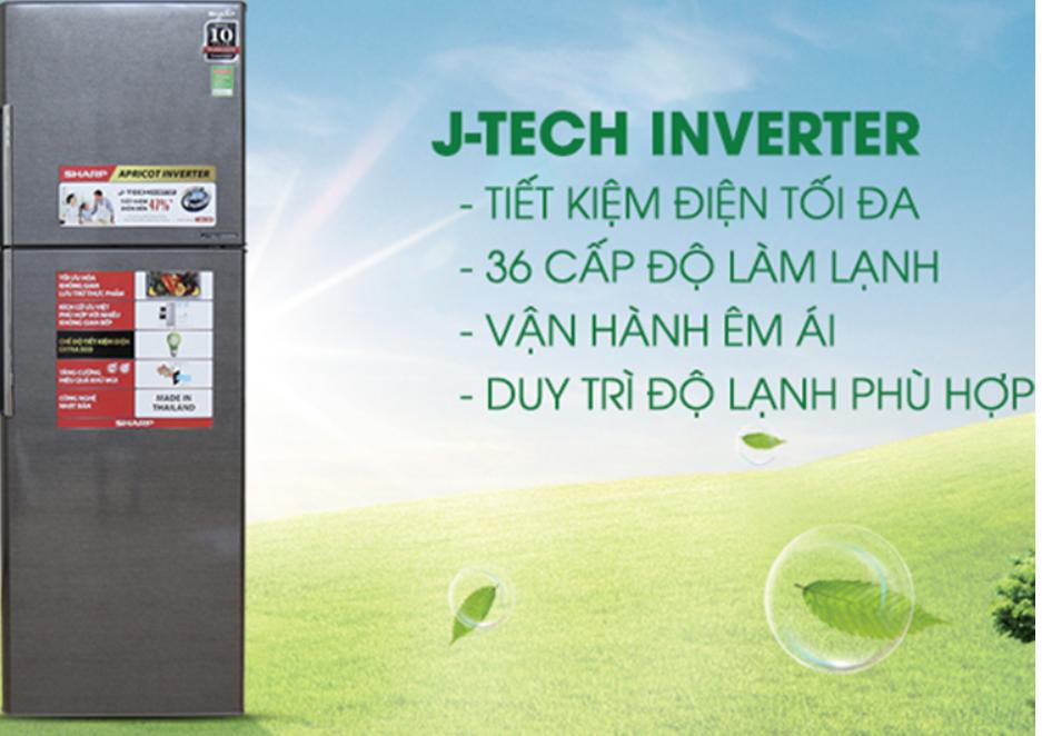 Tủ Lạnh Inverter Sharp SJ X346E SL chạy êm ái