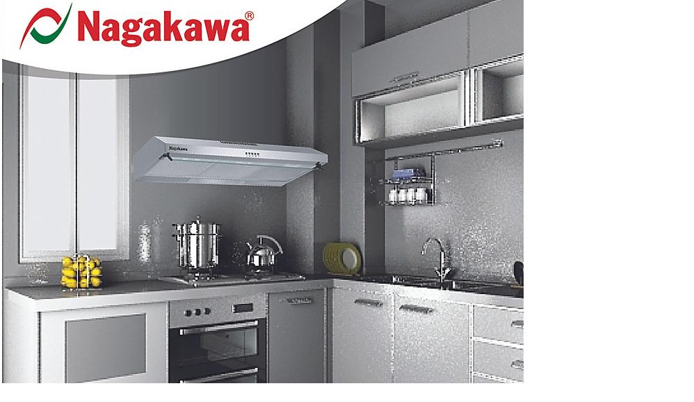 Máy hút mùi khử mùi vỏ Inox Nagakawa NAG1801 90T được nhiều người yêu thích